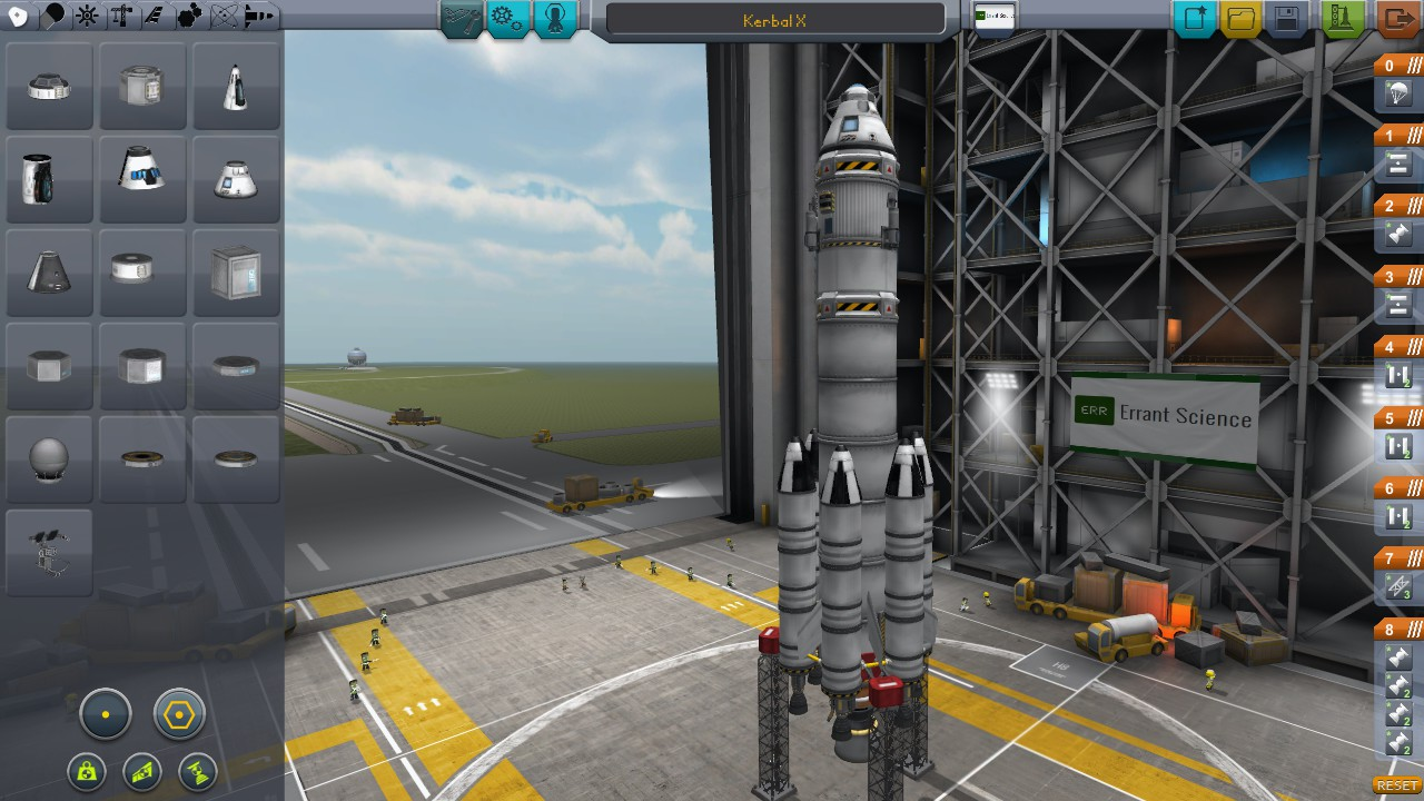 The Vehicle Assembly Building where you can build your rockets.