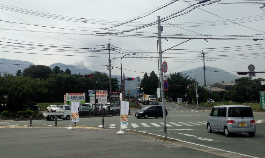 Somewhere behind those wires is an erupting volcano