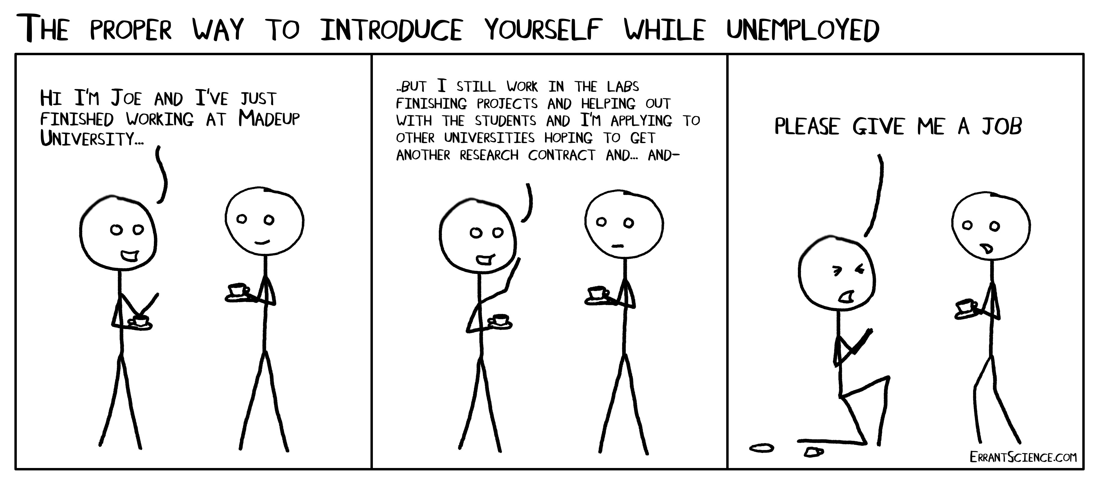 how to introduce yourself as an unemployed researcher errantscience