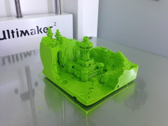 No 3D printer is complete without replicating a little minecraft.