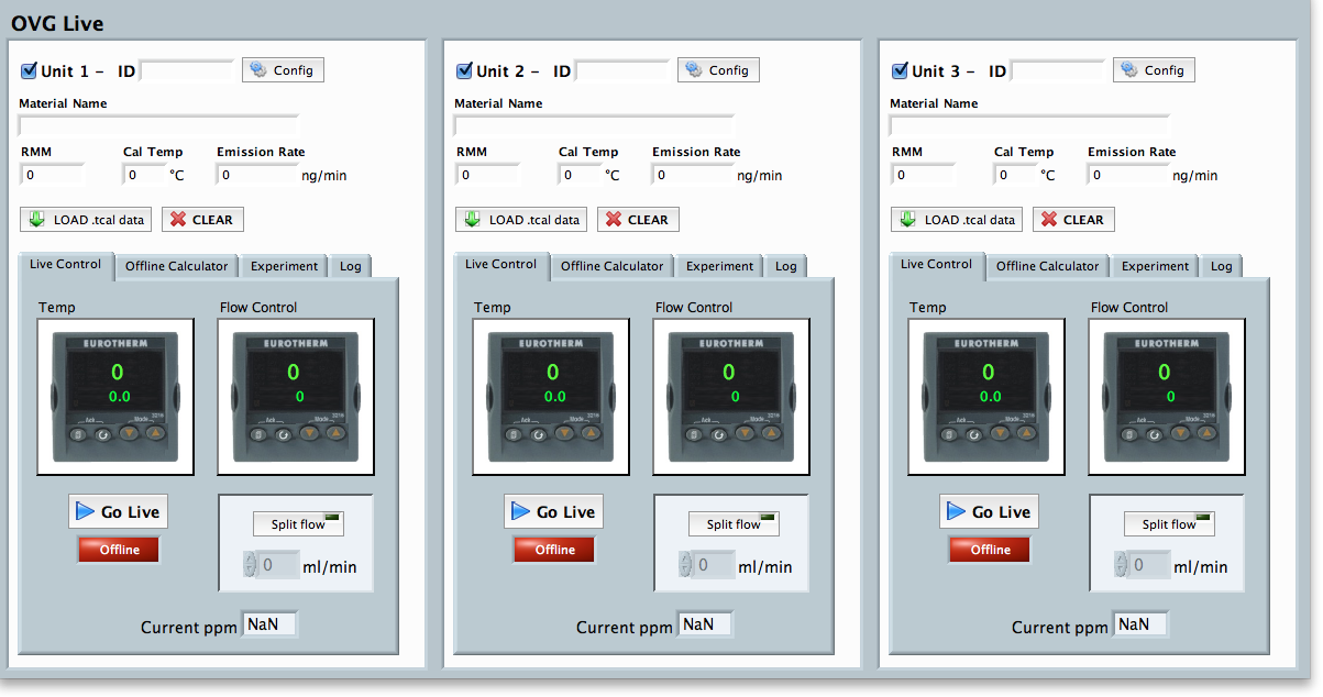 OVG-live can run 3 units simultaneously