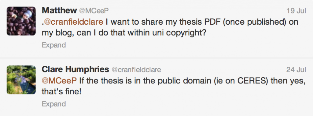 Thesis sharing?